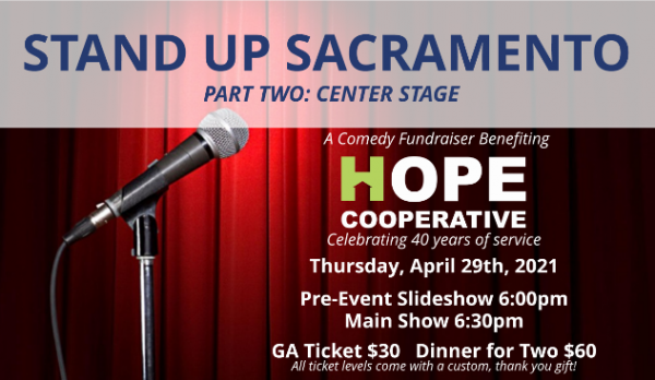 Hope Cooperative's 40th Anniversary, Virtual Stand Up Fundraiser 1